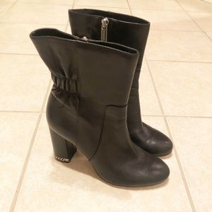 Michael Kors Leather Boots EUC Size 8
